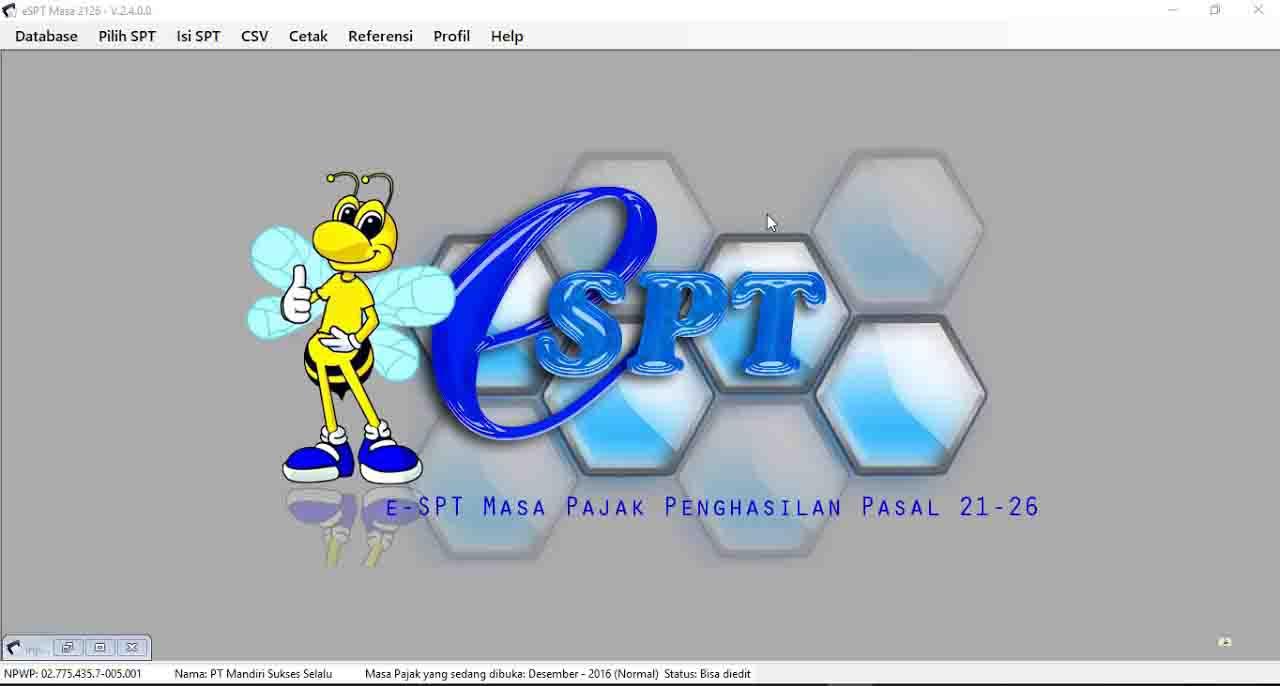Download Installer E Spt Masa Pph Pasal 21 26 Dan Patch Kja Sugeng
